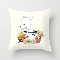 Green Leaves Me Throw Pillow