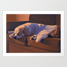 Couch Hog Art Print