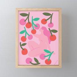 cherry picker Framed Mini Art Print