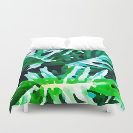 Leaves exotic Duvet Cover