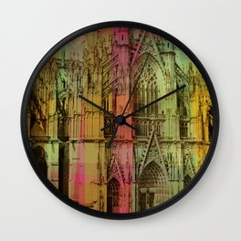 Lucite Cathedral Wall Clock