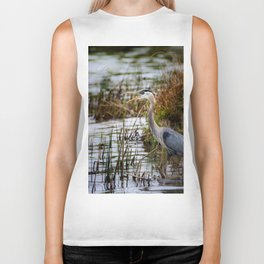 Great Blue Heron Biker Tank