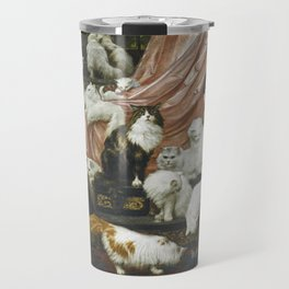 My Wife's Lovers by Carl Kahler 1883 Famous Cat Painting Travel Mug
