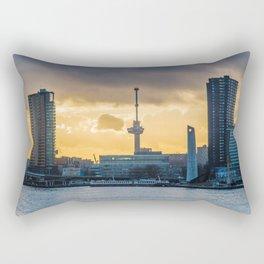 Euromast Rotterdam Skyline Rectangular Pillow