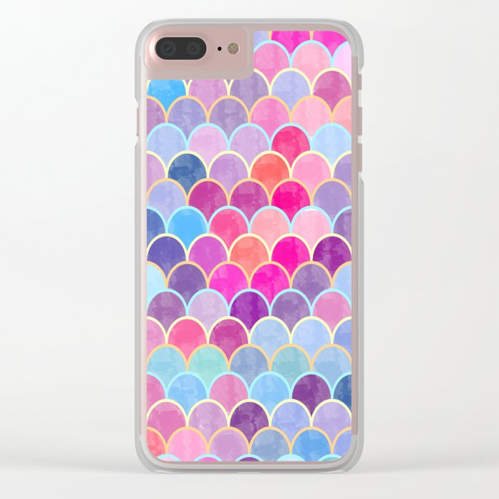 Watercolor Lovely Pattern VIII Clear iPhone Case