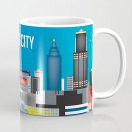 Kansas City, Missouri - Skyline Illustration by Loose Petals Coffee Mug