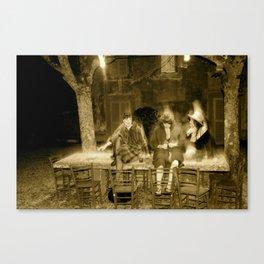 tavolo in pietra Canvas Print