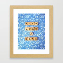 Wish Upon A Star Framed Art Print