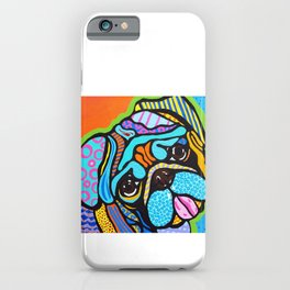 Pooped Pug Dog Puppy Designer Series Bright Colorful Fun Art Design Bulldog Breeds iPhone Case