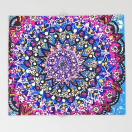 Orb Weaver Mandala Throw Blanket