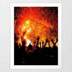 Flaming Lips Concert Art Print