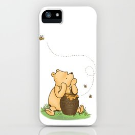 Classic Pooh with Honey - No background iPhone Case
