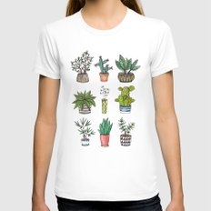 home plants MEDIUM White Womens Fitted Tee