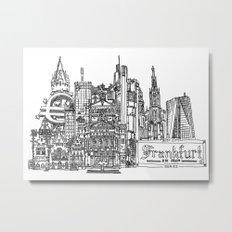 Busy City – Frankfurt am Main Metal Print