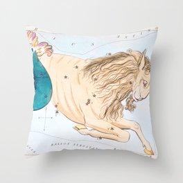Antique Capricornus Constellation Map Throw Pillow