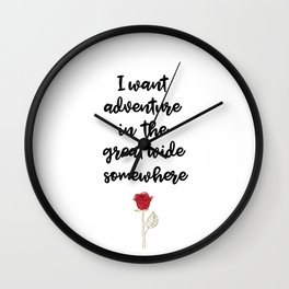 Beauty And The Beast Quote Wall Clock