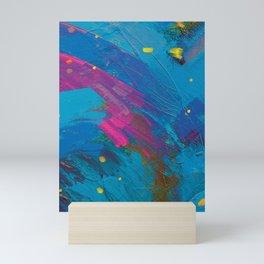 Ocean Breeze (Large Brush Strokes) Mini Art Print