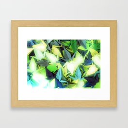 Senbazuru | yellows n blues  Framed Art Print
