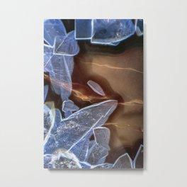 Agate under a Microscope Metal Print