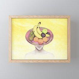 Fruit Lady Portrait Framed Mini Art Print