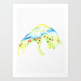 Poppy Fox Art Print