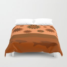 In Another Universe - Orange Brown Duvet Cover