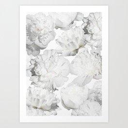 Pretty White Peonies Art Print