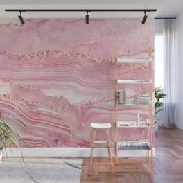 Pink Glamour Marble Agate  Wall Mural