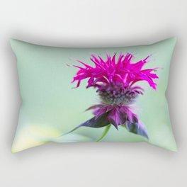 Pink Bee Balm Flower 2 Rectangular Pillow
