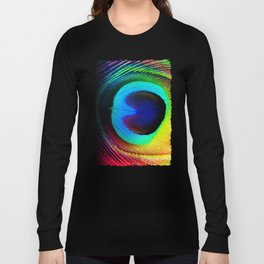 Colorfull Feather Peacock Long Sleeve T-shirt