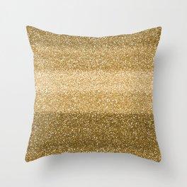 Glitter Glittery Copper Bronze Gold Throw Pillow