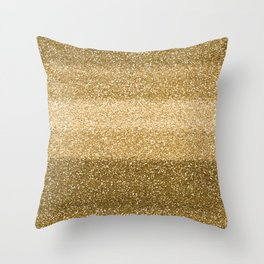 Glitter Glittery Copper Bronze Gold Throw Pillow