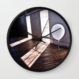 The Lonely Balloon Wall Clock