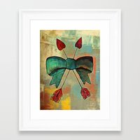 bow Framed Art Prints featuring Bow by Kerri Swayze