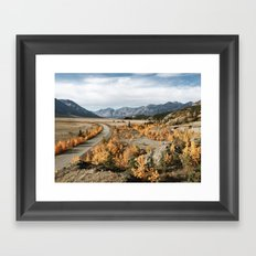 Fall Yukon Valley Framed Art Print