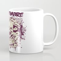 nightmare Mugs featuring Nightmare by Tshirt-Factory