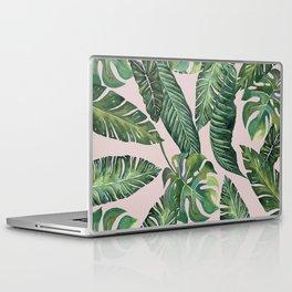 Jungle Leaves, Banana, Monstera Pink #society6 Laptop & iPad Skin