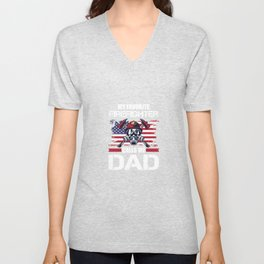 My Favorite Firefighter Calls Me Dad For A Firefigter Dad Unisex V-Neck