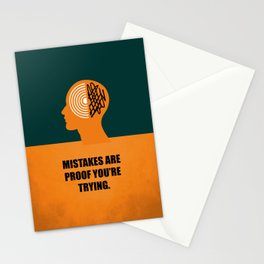Lab No. 4 -Mistakes are proof you're trying corporate start-up quotes Poster Stationery Cards