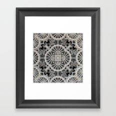 Old Lace Framed Art Print