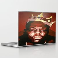 notorious Laptop & iPad Skins featuring Notorious Big by The Art Of Gem Starr