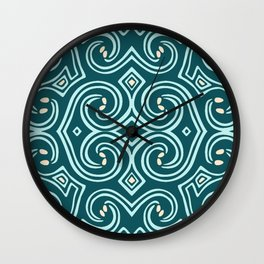 Svortices (Blue) Wall Clock