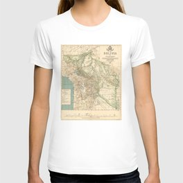 Vintage Map of Bolivia (1905) T-shirt