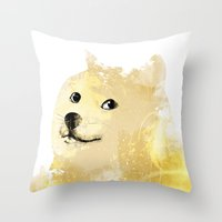 doge Throw Pillows featuring Doge by EtOfficina