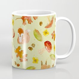 Autumn Leaves Wrapping Paper Coffee Mug