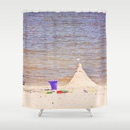 Sand Castle at the Beach Shower Curtain