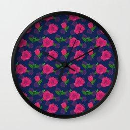 Rosy Roses Wall Clock