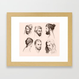 Bearded faces Framed Art Print