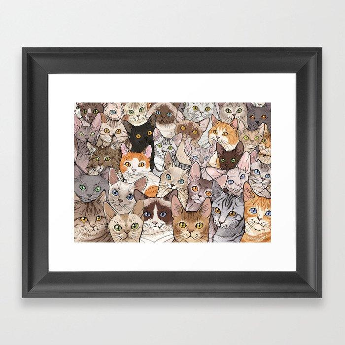 A lot of Cats Gerahmter Kunstdruck