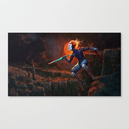 The Leap / Uck You Canvas Print